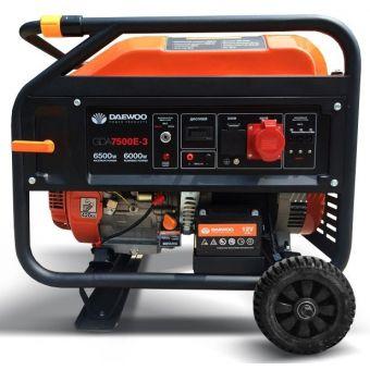 Бензиновый электрогенератор Daewoo GDA 7500E-3 (Трехфазный)